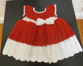 Christmas baby dress, girl dress, christmas gift