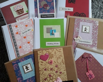 "Handmade cards 6x6"" with envelope"