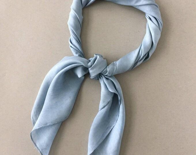 "INDIGO BLUE Plant Dyed Silk Scarf (33"" x 33"" Square)"