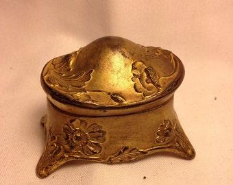 Vintage Gold Ring/Trinket Box