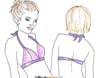 BRALETTE DOWNLOAD Pattern TRIANGLE Bikini by Merckwaerdigh