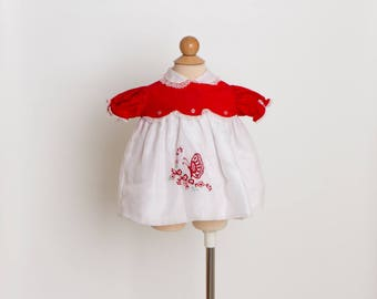 vintage 70s butterfly baby dress