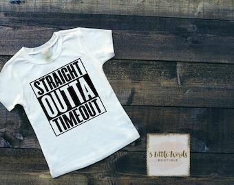 Straight Outta Timeout Shirt | Funny Kids Shirt | Boys Shirt | Girls Shirt | Funny Kid Tee
