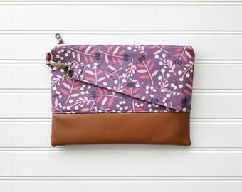 SPRING '18 COLLECTION Mauve Mommy Clutch - Wallet Clutch - Small handbag - Purple Wristlet - Wallet Clutch