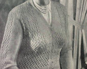 vintage Needlewoman and Needlecraft magazine No 52 1950's knitting crochet embroidery tatting
