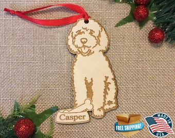 Goldendoodle Ornament *** Personalized Dog Ornament  ***Dog Lover Gift *** Christmas Holiday Ornament ***