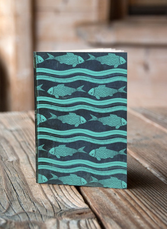 A5 Fish Pattern - Notebook / Sketchbook / Journal