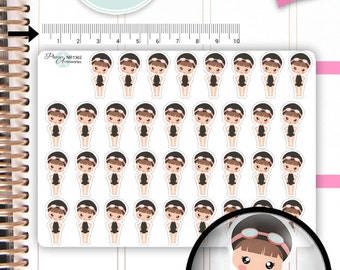 Swimmer Stickers Swimming Planner Stickers Sport Stickers Cute Stickers Erin Condren Functional Stickers Kawaii Stickers NR1362