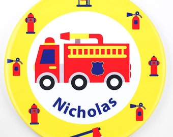 Personalised Fire Engine Plate