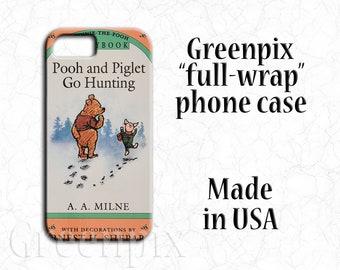 Disney iPhone case, Winnie the Pooh phone case, Piglet phone case, book cover phone case, iPhone X, iPhone 8, iPhone 7, iPhone 6 6S, Plus