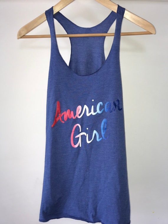 American Girl Tank Top flag print Fourth of July