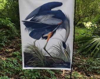 Great Blue Heron, Jumbo Audubon Garden Flag