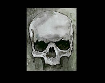 ACEO Skull Print, ACEO Limited Edition, ACEO, Aceo Print, Aceo Art Card, Aceo Painting, Aceo Skull, Aceo Skulls, Aceo Gothic, Artist Trading