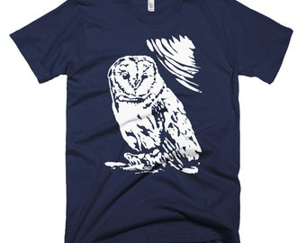 Men's Barn Owl Graphic T-Shirt American Apparel (Supports Conservation)