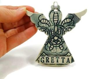 Custom Angel Ornament, Holy Communion Gift, Angel Nursery Decor, Baptism Angel, Personalized Ornament, Memory Ornament, Religious Decor