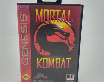 Sega Genesis Mortal Kombat Game Clean Tested Complete