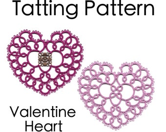PDF Tatting Pattern: Valentine Heart