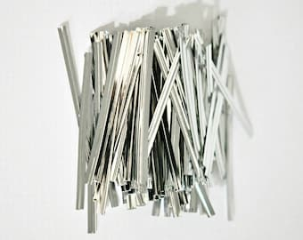 Silver Foil Twist Ties {100}   Silver Bread Ties   Homemade Treats   Sparkly Gift Wrap