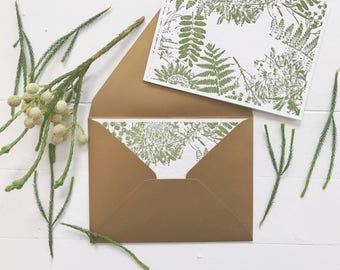 Wild Oregon Flora Semi-Custom Letterpress Stationery