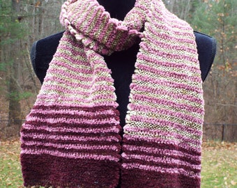 Extra long Handwoven Scarf in Pinks and Reds, Super Soft Chenille Scarf for her, Woven fashion scarf, womens scarf, handmade scarf, neckwear