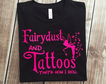 Fairydust and Tattoos Tinker inspired Adult T-shirt