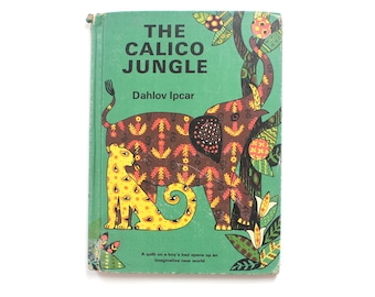 1965 la Jungle Calicot par Dahlov Ipcar Vintage Hardcover Book pour enfants