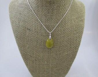 Beautiful Necklace Pear Shape Yellow Rutilated Quartz Pendant #49