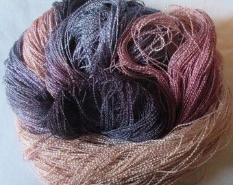 Handpainted Yarn-Soft Rayon Boucle lace Wt. - 688 yds - VICTORIAN