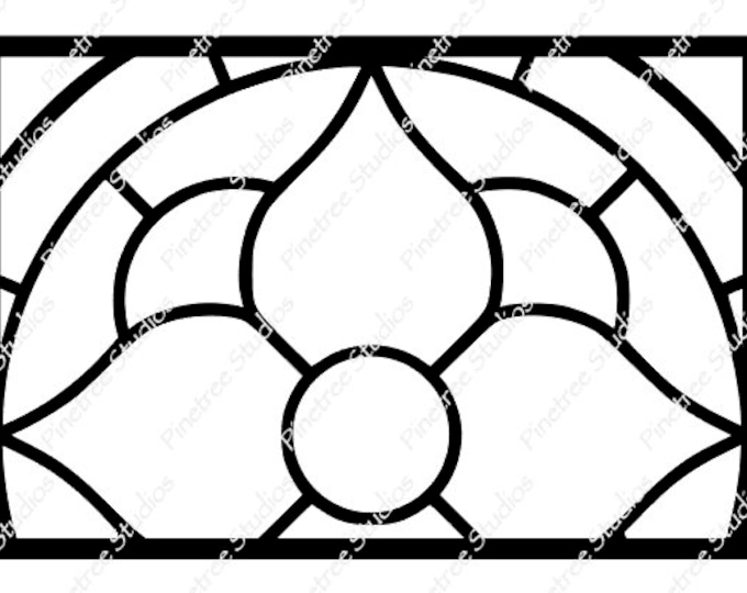 Stained Glass Flower SVG Digital Download / Cuttable / Clip Art / Stencil / Silhouette / Cricut / Printable / Color Book / Decal