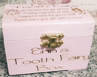 personalised tooth fairy box; tooth fairy, tooth fairy keepsake, tooth fairy gift, wooden box, tooth holder, personalised tooth fairy box