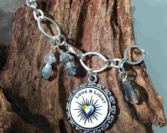 Love & Light Crystal Bracelet (includes choice of blessing)