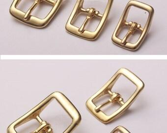 16/20/25mm Brass Pin Buckle/Women Belts Accessories/Leather Bag Findings/Bag Fasten Buckle