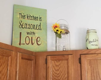 Wood SignThis Kitchen Is Seasoned With Love
