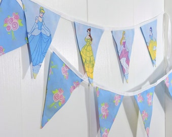 Disney Princess Bunting Flags / Princesses and Flowers Bunting Flags