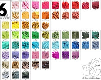 Wholesale Zippers - Your Choice of 500 16 Inch YKK Zippers Mix and Match- Choose from 65 colors