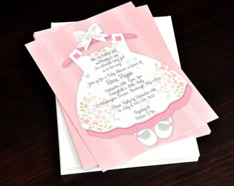 Wood and Lace Wedding Invitation Baby Shower Invitation or