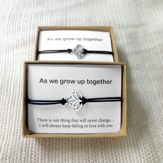 Gifts For Newly Wed Couple: His And Hers Lotus Bracelet Love Couple Bracelet Couples