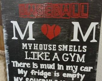 Baseball mom sign