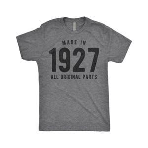 90th Birthday Gift, Made In 1927, Vintage 1927, 90th Birthday Gifts, Birthday Shirt, 1927 Birthday, 90 Years Ago, 90 Years Old T-Shirt