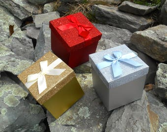 Gift Box Upgrade, Sparkle Gift Box, Available in 3 Colors  (Gold, Silver or Red)
