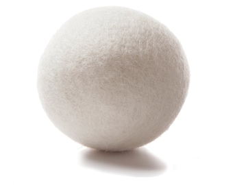 Wool dryer ball kit - eco-friendly method to reduce wrinkles and dry time