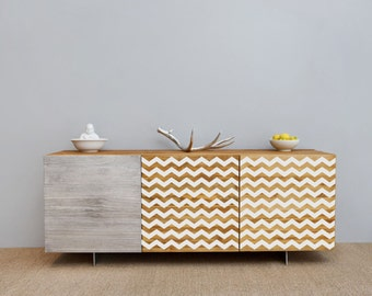 Furniture Chevron Stripes vinyl pattern decal for your furniture decor hack - ideal for dressers, IKEA closets, beds, kitchen cabinets
