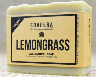 Lemongrass soap- Wake up to a fresh, clean scent to start your day ! -  Soap Era all natural handmade vegan soap