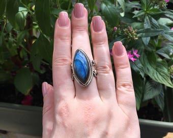 Labradorite ring/7.5