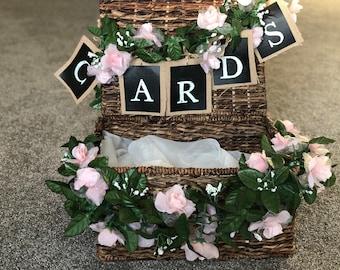 Rustic/Garden Themed Wicker Basket Gift Box