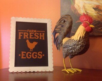 Farm House Chic Decor.  Farm Fresh with Farm Animals.  Picture or Wall Decoration.
