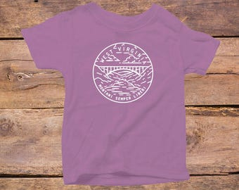West Virginia State Design - Eco Tri-Blend Infant T-Shirt