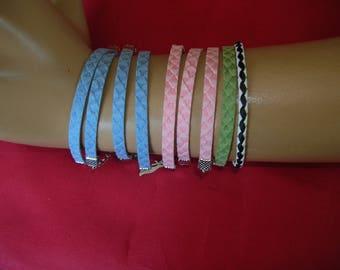 Child print leather braided bracelets
