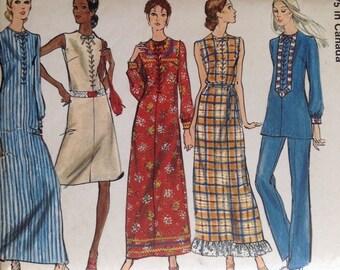 Vintage Vogue 8068 Misses' Dress, Tunic and Pants