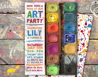 Art Party / Paint Party Invitation / Sip and Paint
